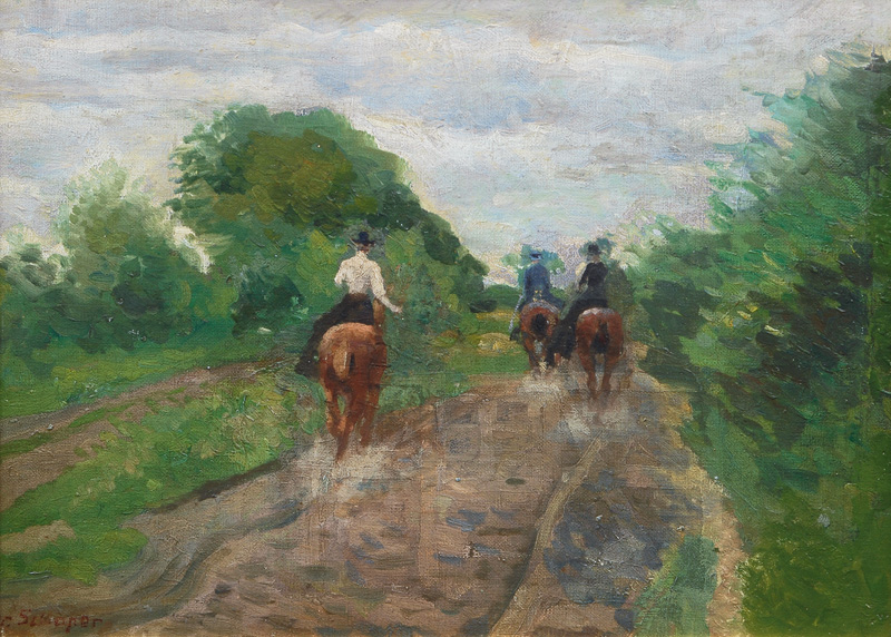 Equestrians in the Borsteler Marsh