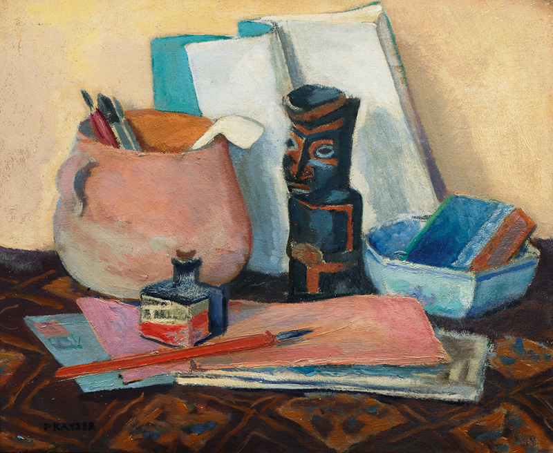 Still Life with African Figure