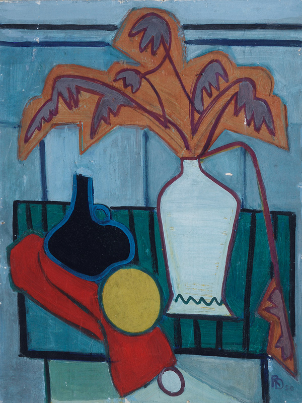 Still Life with Red Drapery