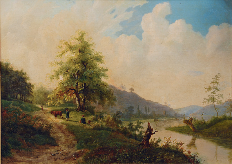Summerly River Landscape