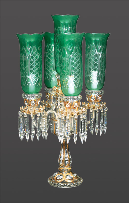 A pompous crystal candle stick