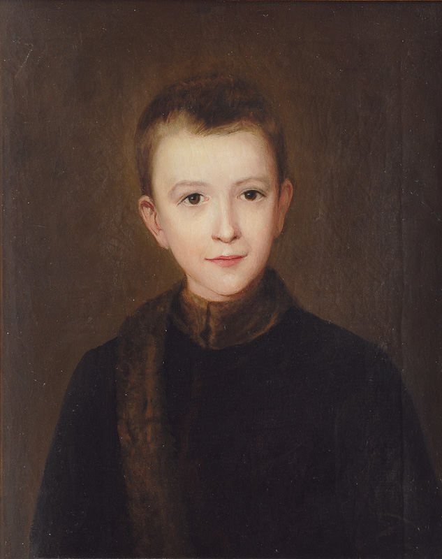 Portrait of a Boy with Mink Collar