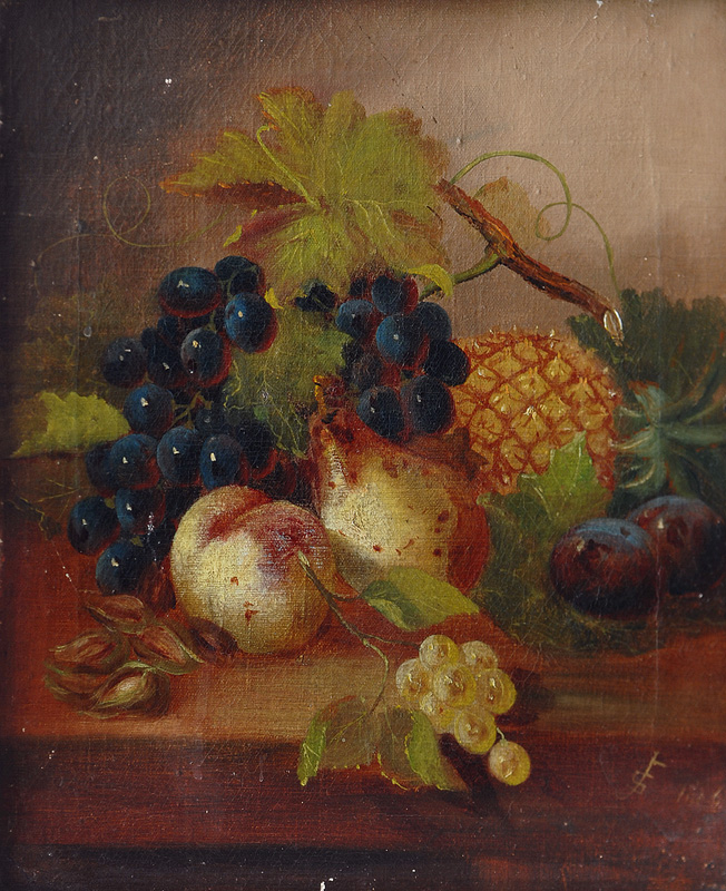 A Pair of Still Lifes with Fruit