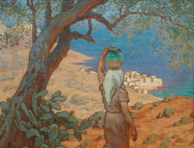 Water Carrier at the French Mediterranean Coast