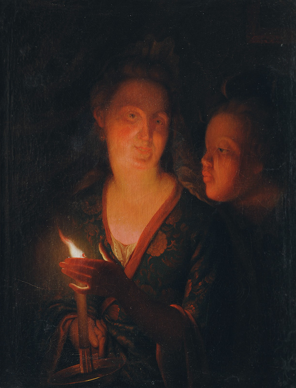 Mother and Child in the Candlelight
