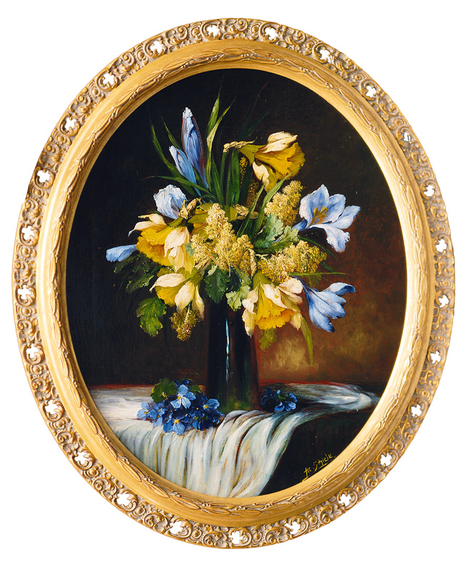 A Pair of Still Lifes with Flowers