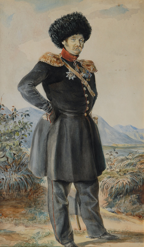 Portrait of the Russian General Karl Wilhelm von Wrangell