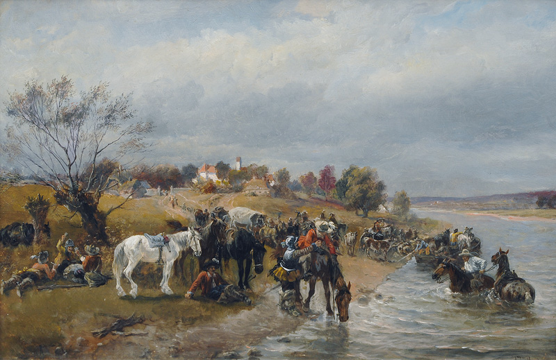 Soldiers Camp on the Riverbank