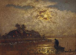 Fisherman in the Moonlight