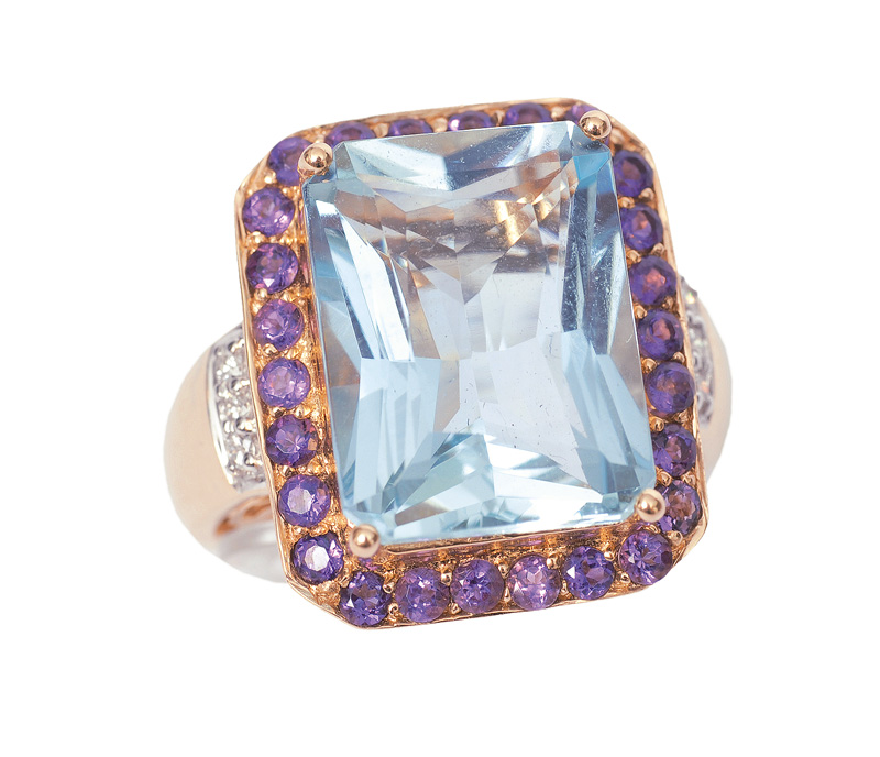 A large topaz amethyst ring