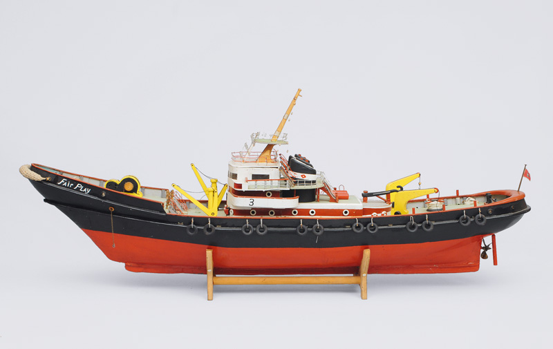 "A big model ship towboat ""Fairplay"""