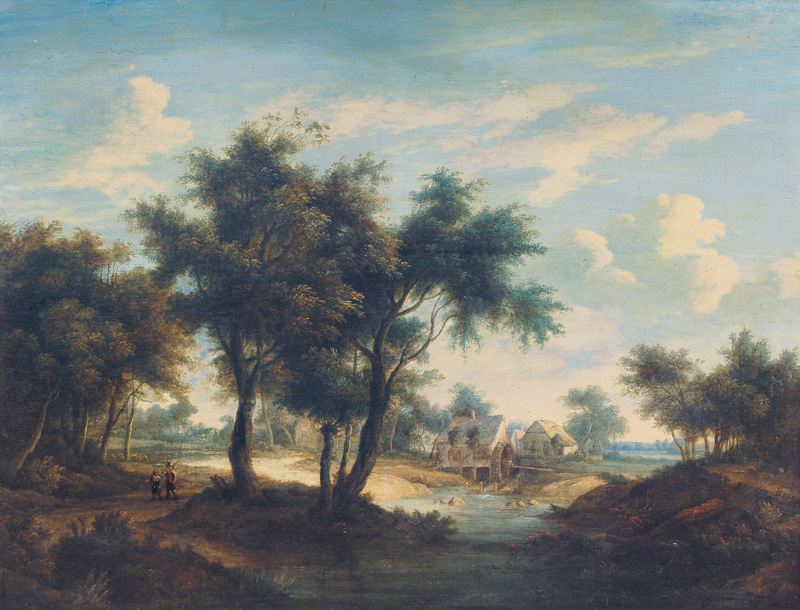 Mill in a River Landscape
