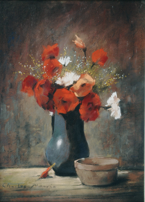 Still Life with Red Poppies