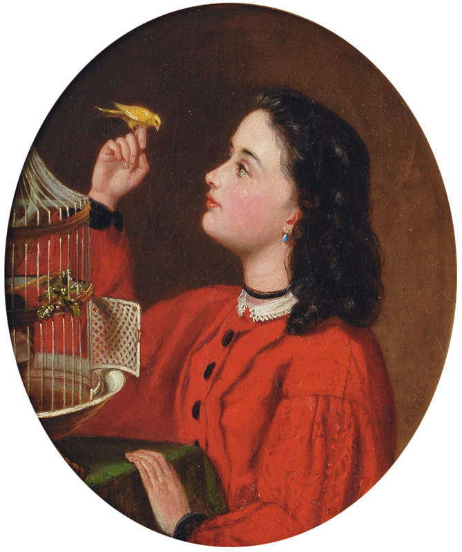 Young Girl with Songbird