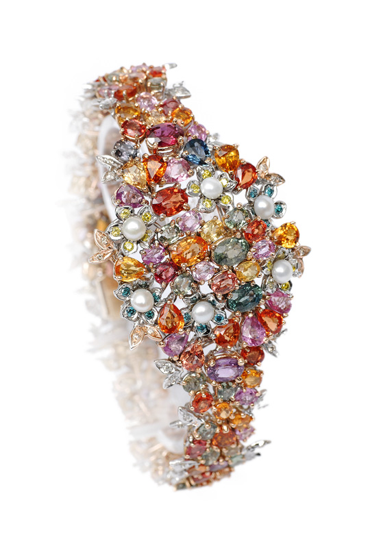 A colourful bracelet with precious stones