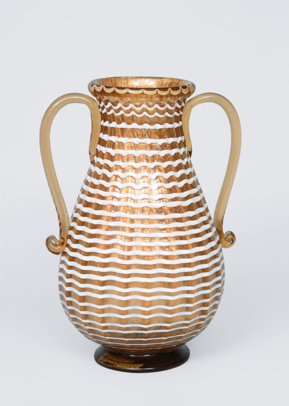 A two handles vase with spiral decoration