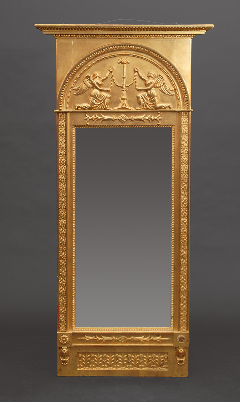 An Empire mirror with scenes of goddess