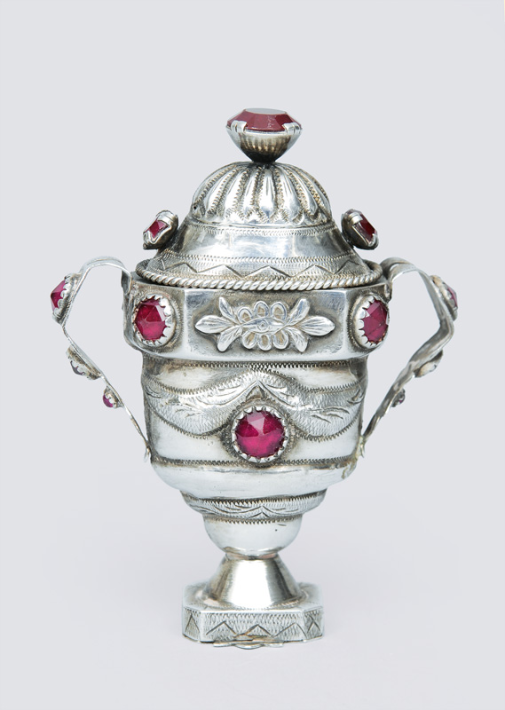 An Empire fragrance jar in the shape of a vase