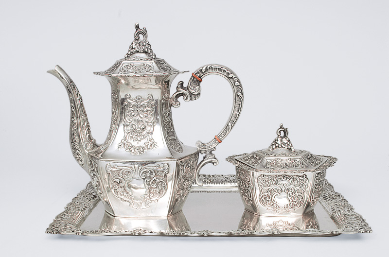A coffee service in style of baroque
