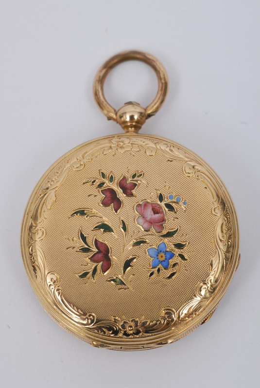 "A small open-face lady""s pocket watch"