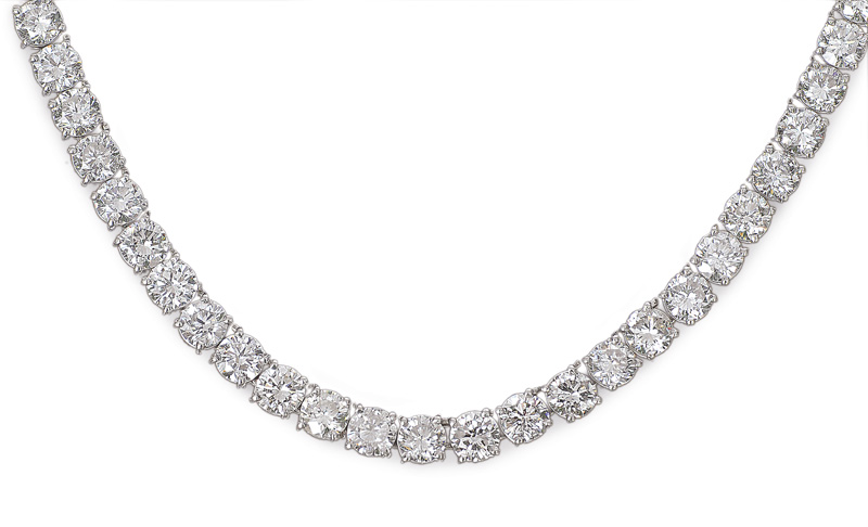 A fine, high quality diamond necklace