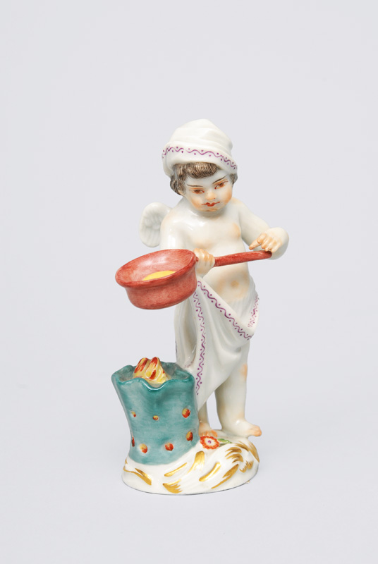 "A figurine ""Small disguised Amoretto with cooking pot"""