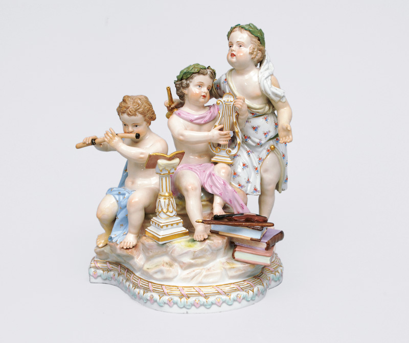 "A big figurine group ""Allegory of Music"""