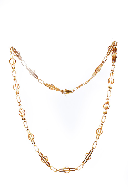 A golden necklace