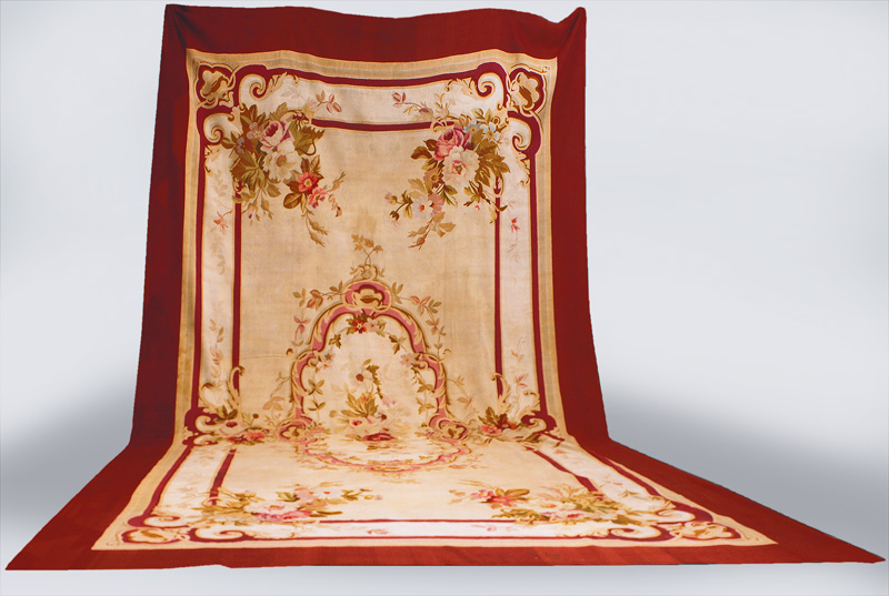 A large Aubusson with classical floral ornaments