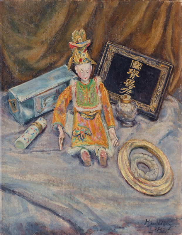 Still Life with Japanese Puppet