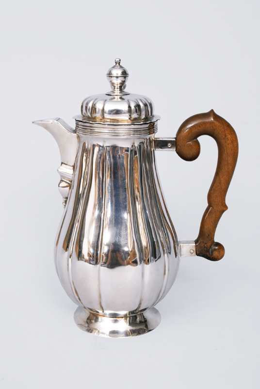 A rare Baroque coffee pot