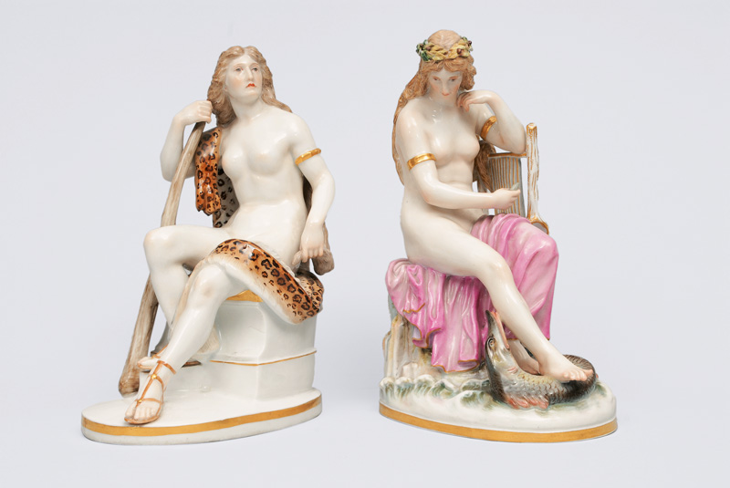 "A pair of figurines ""Loreley"" and ""Omphale"""