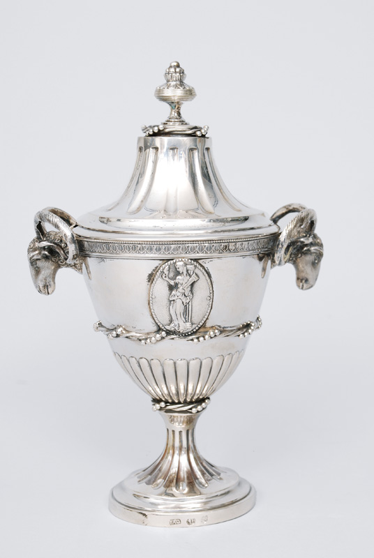 A rare Empire jar with handle of ram heads