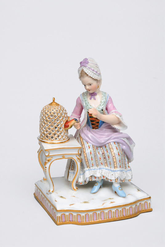 "A figurine ""The sense of feeling"" of serial ""The five senses"""