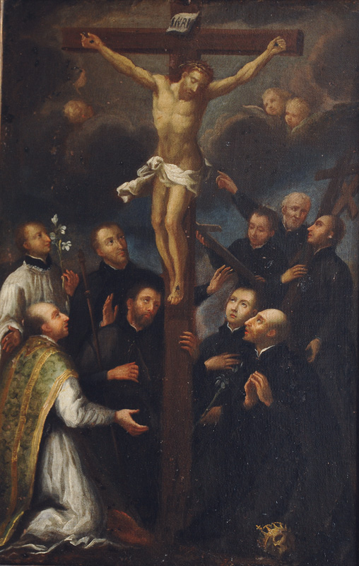 Christ on the Cross with Adorers