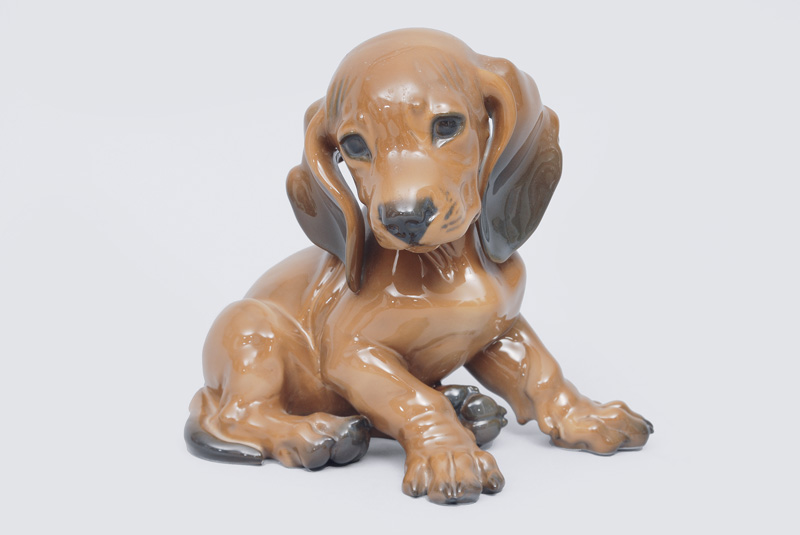 "A animal figurine ""Young dachshund"""