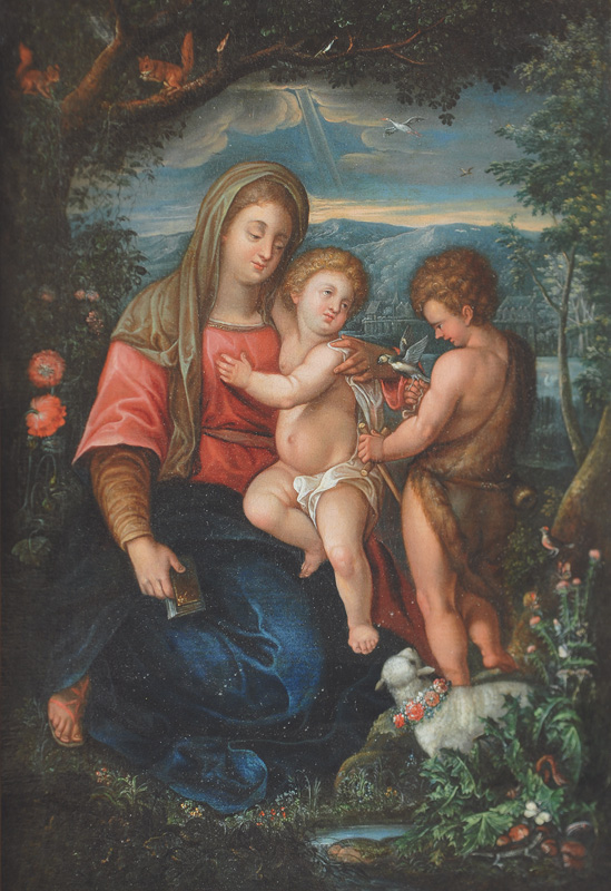 Mary with Christ and John the Baptist
