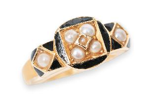 A petite Victorian pearl ring