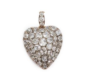 A heart shaped diamond pendant