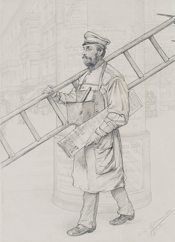Man with a Ladder