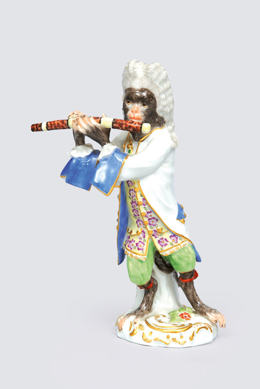 "A figurine ""German flute player"" of serial ""music playing monkeys"""