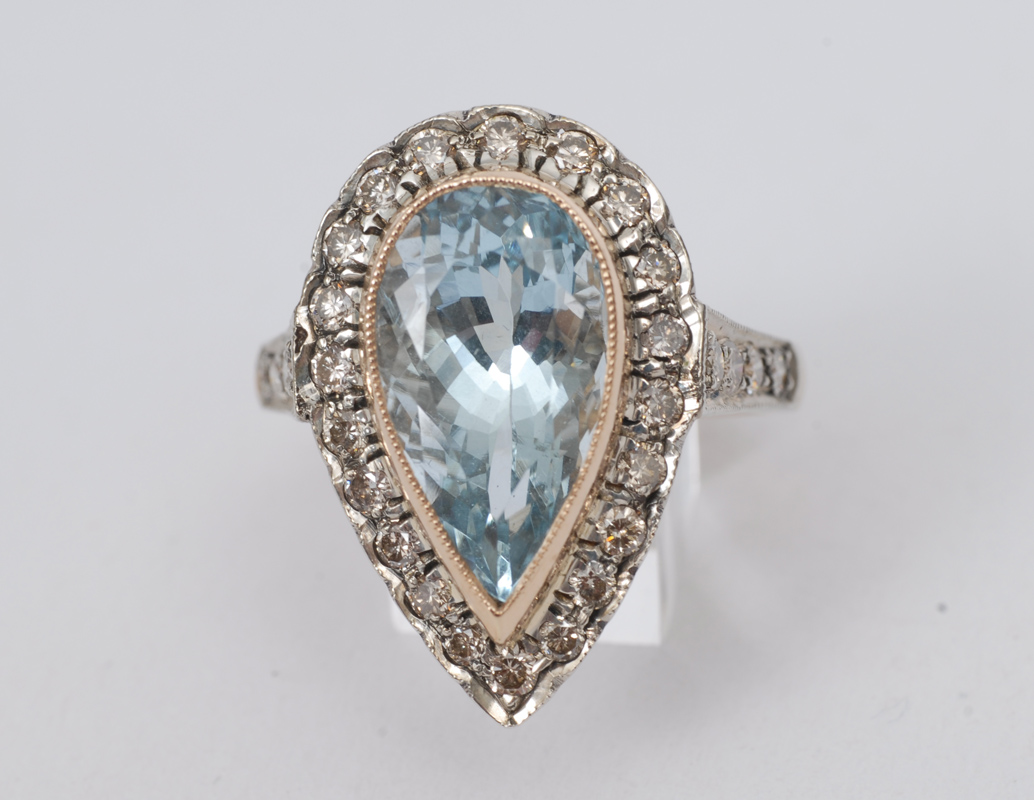An aquamarine ring