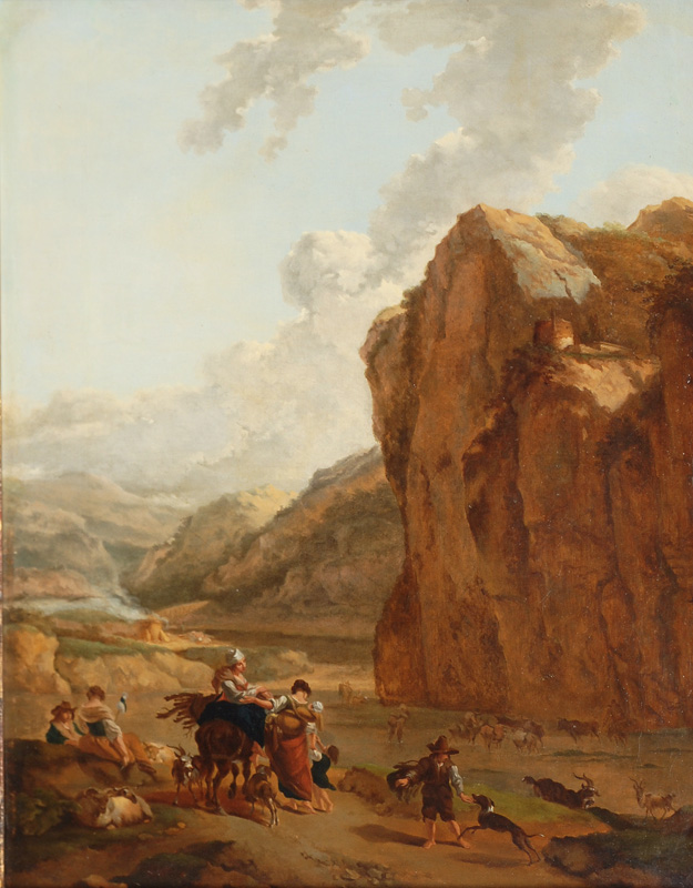 Shepherds in a River Valley