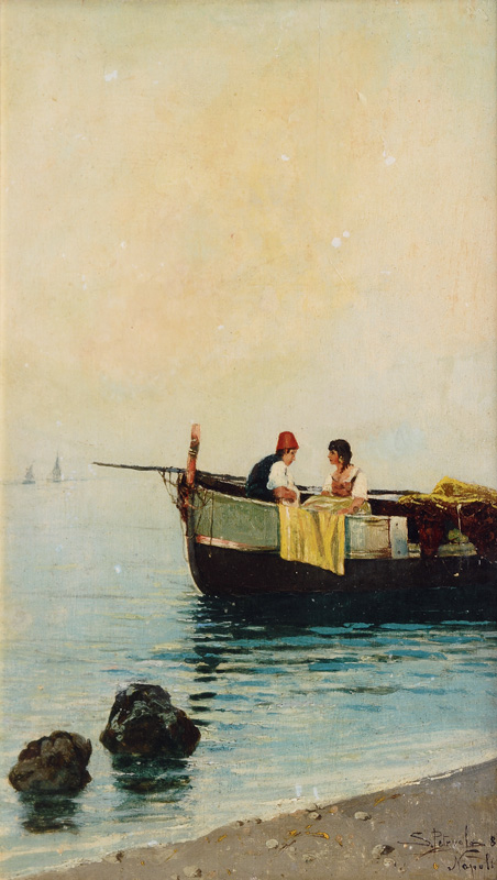 Neapolitan Lovers in a Fishing Boat