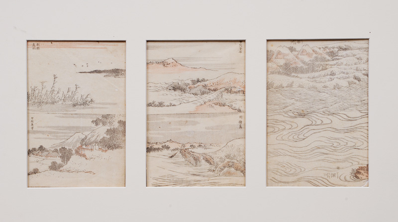 Three Landscapes from the Hokusai-Manga