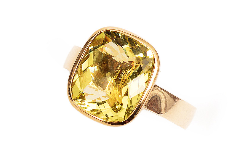 A citrine ring