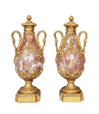 A pair of french Empire vases