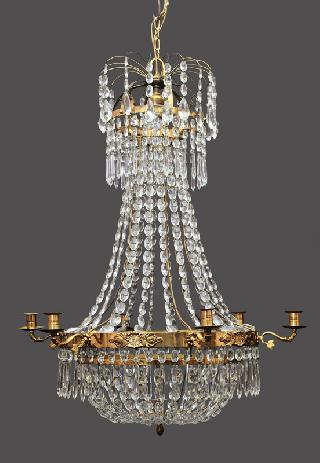 A classical cristall ceiling light