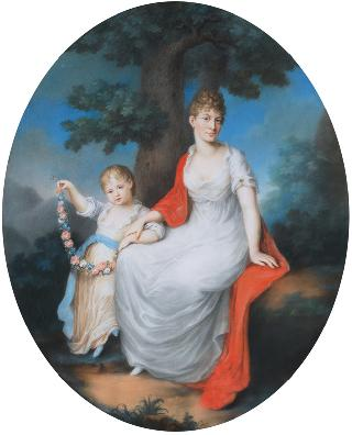 Portrait of a Princess of Württemberg with her Daughter