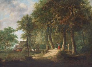 Wood Landscape with Figures and Cattle